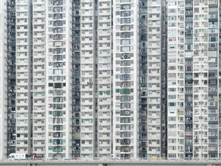 Photo for dense, high rise apartments flats, in Hong Kong                            - Royalty Free Image