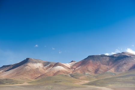 This image shows the colurful and varied landscape of Andean Bolivia