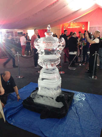 FA Cup ice sculpture