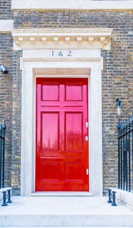 Photo pour June 2020. London. A door in Holborn, London UK Europe - image libre de droit