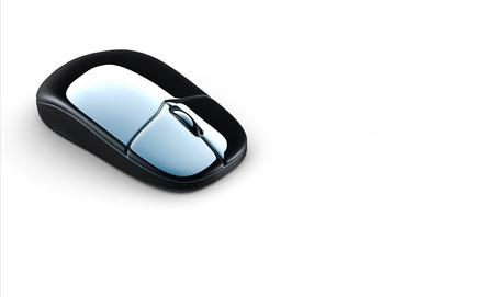 Modern computer mouse isolated on white background