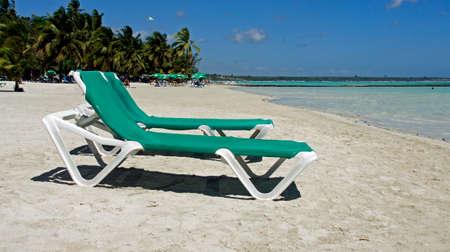 caribbean beach of baca chica