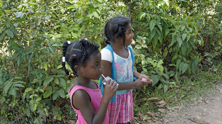 poor child growh up in poverty, dominican republic 2014