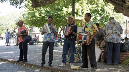 SANTO DOMINGO, DOMINICAN REPUBLIC,MARCH 2014: caribbean street music