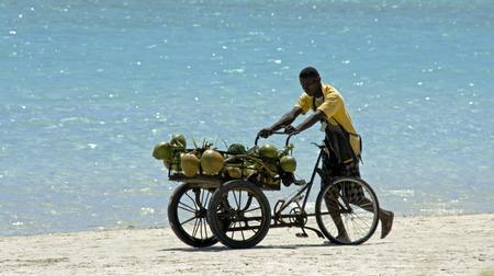 BOCA CHICA, DOMINICAN REPUBLIC,MARCH 2014: beach scene