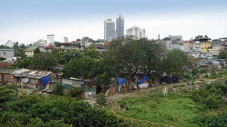 simple housing area in hanois suburb region