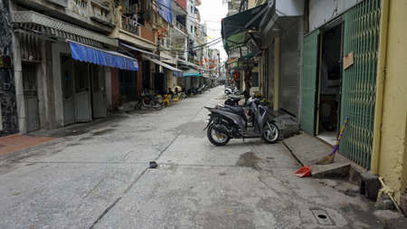 small residential alleys in hanoi the capitol of vietnam