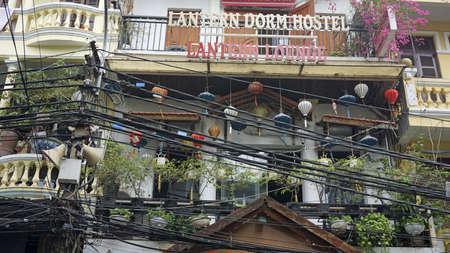 Hanoi, Vietnam, circa January 2020: Street life in the City