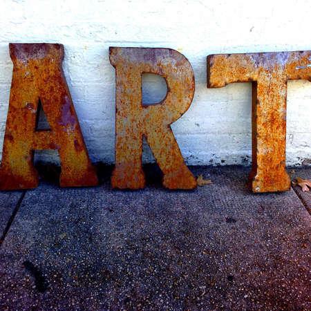 Street art letters