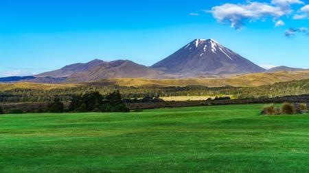 beautiful cone volcano,mount ngauruhoe,tongariro,new zealand