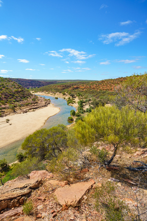 Foto per Hiking the canyon. natures window loop trail, kalbarri national park, western australia - Immagine Royalty Free