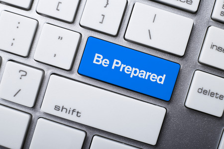 Closeup of Be Prepared button on keyboard