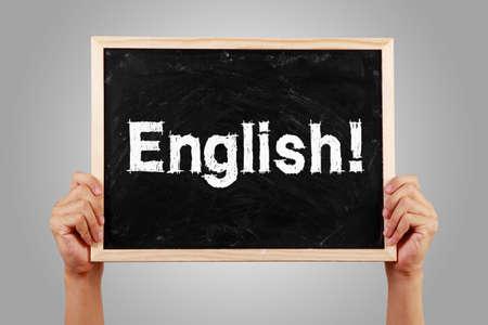 Photo pour English text of English learning concept. - image libre de droit