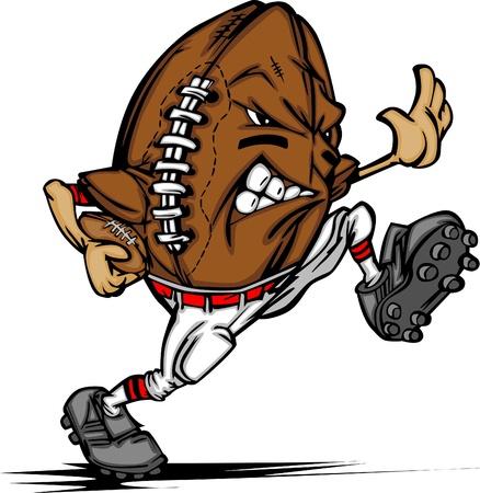 American Football Ball Player Cartoon