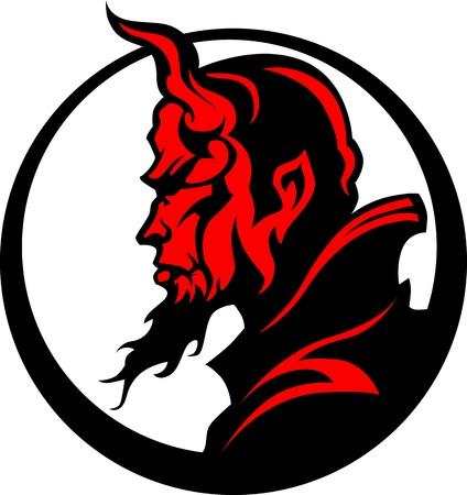Illustration pour Devil Demon Mascot Head Illustration - image libre de droit