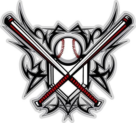 Baseball Softball Bats Tribal Graphic Image