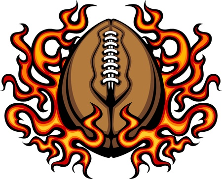 American Football Template with Flames