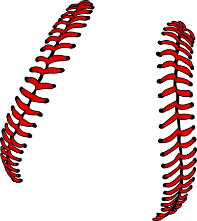 Baseball Laces or Softball Laces Vector Image