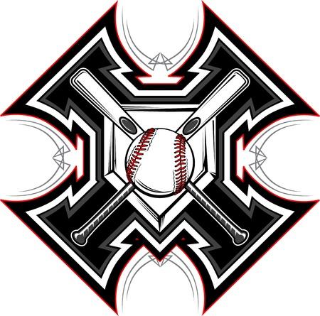 Baseball Softball Bats Graphic Template