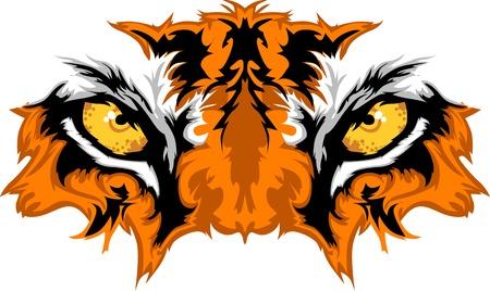Illustration pour Tiger Eyes Mascot Graphic - image libre de droit