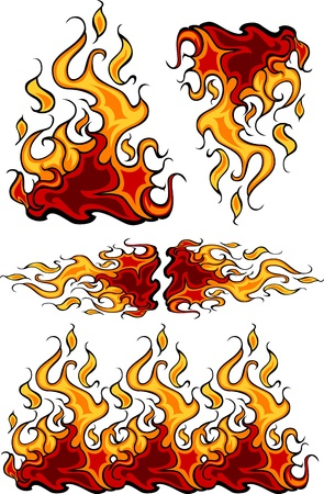 Fire Flames Flaming Vector Illustrations