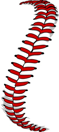 Vector Illustration of Softball Laces or Baseball Laces のイラスト素材