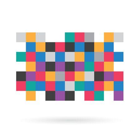 Illustration for colorful pixel censorship pattern - vector illustration - Royalty Free Image