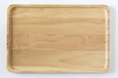 Wooden tray top view