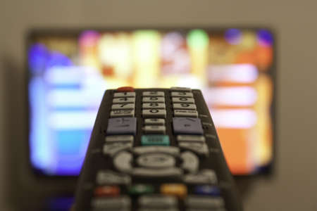 TV remote in a living room