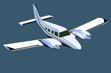 White screw plane on a blue background