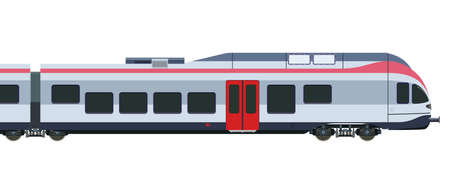 Illustration pour Detailed high-speed train on a white background - image libre de droit