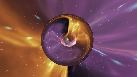 Photo for Illustration galaxy ball abstract background - Royalty Free Image