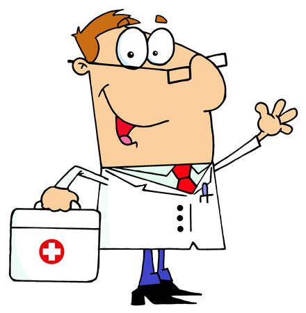 Doctor Man Carrying His First Aid Bag