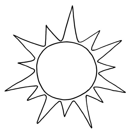 Outlined Summer Sun