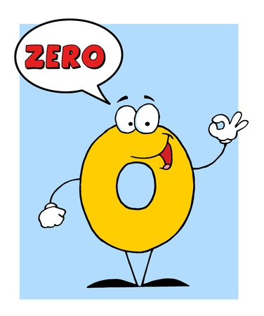 Number 0 Zero Guy With Speech Bubble