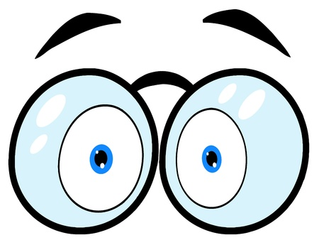 Cartoon Eyes With Glasses