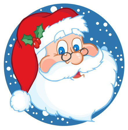 Illustration for Classic Santa Claus Face - Royalty Free Image