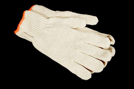 Safety gloves isolated on black
