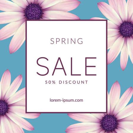 Ilustración de Bright spring sale design. Vector resizable background. - Imagen libre de derechos