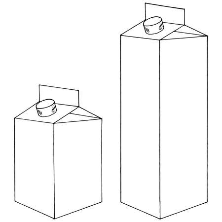 Illustration pour Carton pack for juice, milk and other drinks. Vector illustration of a cardboard package for liquid. - image libre de droit