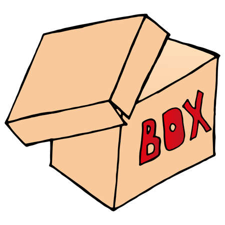 Illustration pour Gift box icon. Vector illustration of a gift box, package. Christmas gift. - image libre de droit