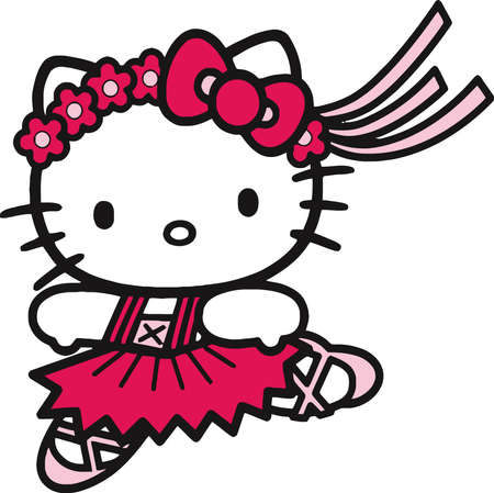 Hello Kitty ballet dancer