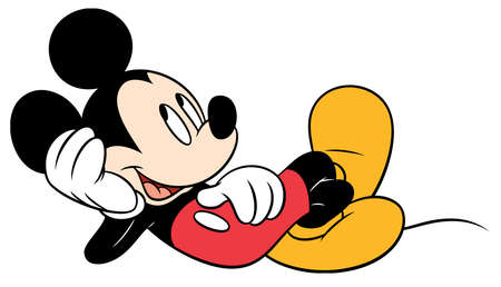 mickey mouse character cartoon  lying down
