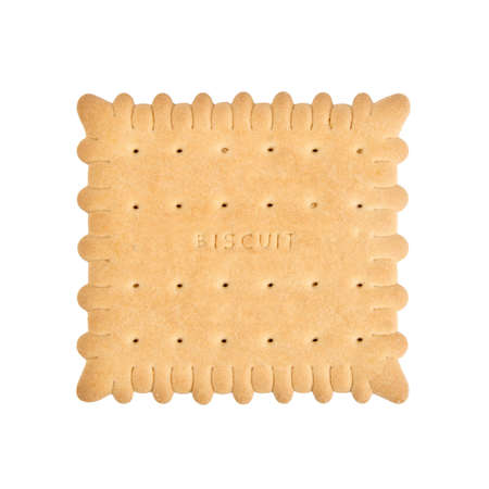 single piece biscuit isolated on white