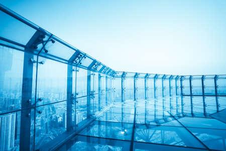 Photo pour top of the modern city,aerial observation deck - image libre de droit