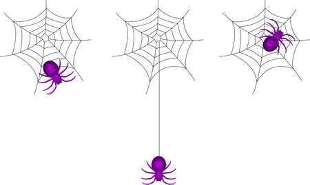 spider cartoon and webs