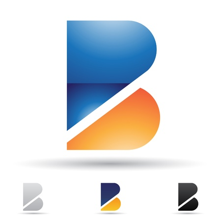 abstract icons based on the letter B