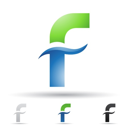illustration of abstract icons based on the letter F