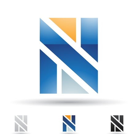 illustration of abstract icons based on the letter N