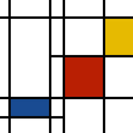 mondrian inspired illustration